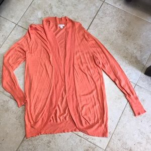 Long Orange cardigan